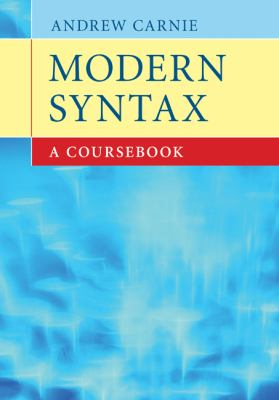 Modern Syntax A Coursebook  2010 9780521863353 Front Cover