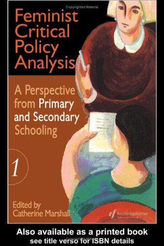 Feminist Critical Policy Analysis   1997 9780750706353 Front Cover