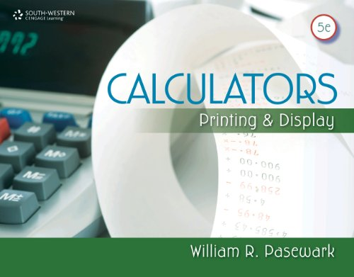 Calculators Printing and Display 5th 2012 edition cover