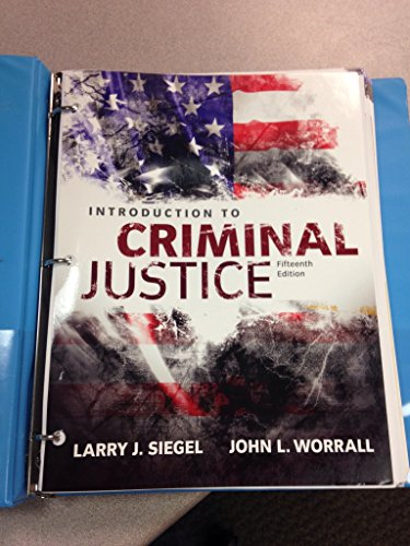 Introduction to Criminal Justice:   2015 9781305633353 Front Cover