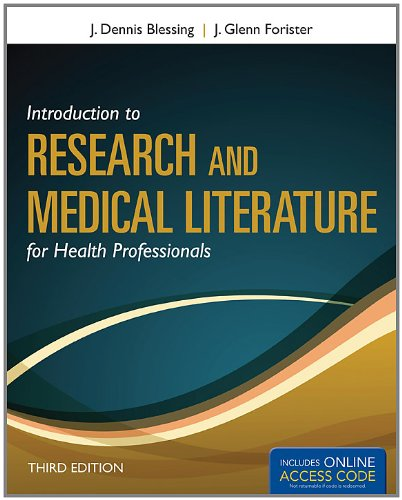 Introduction to Research and Medical Literature for Health Professionals  3rd 2013 edition cover