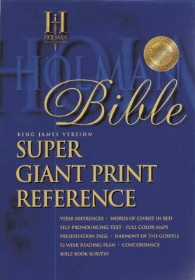 KJV Super Giant Print Reference Bible Black Simulated Leather Indexed  1997 (Large Type) edition cover