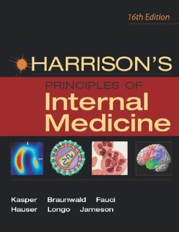 Harrison's Principles of Internal Medicine  16th 2005 (Revised) edition cover