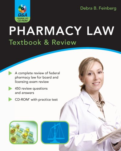 Pharmacy Law Textbook and Review  2008 9780071486354 Front Cover