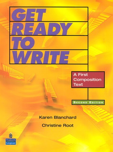 Get Ready to Write A First Composition Text 2nd 2006 9780131946354 Front Cover