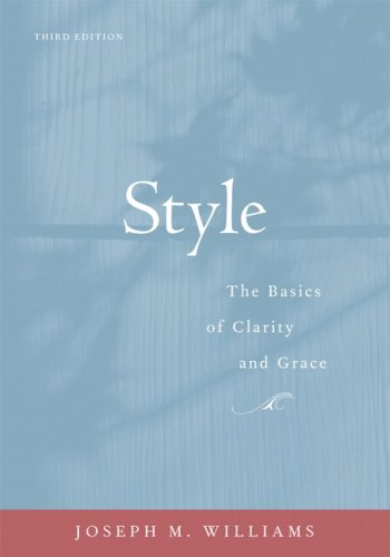 Style The Basics of Clarity and Grace 3rd 2009 edition cover
