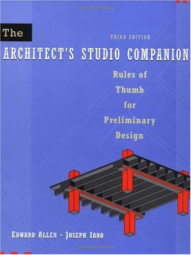 Architect's Studio Companion Rules of Thumb for Preliminary Design 3rd 2001 (Revised) edition cover