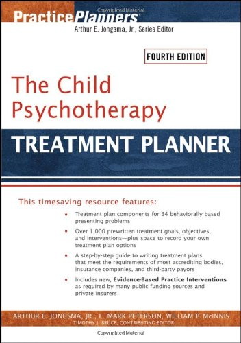 Child Psychotherapy Treatment Planner  4th 2006 (Revised) edition cover
