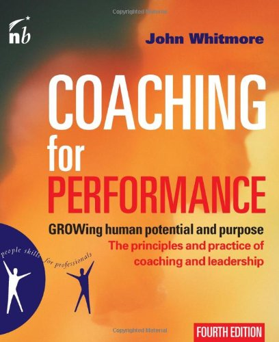 Coaching for Performance Growing Human Potential and Purpose 4th 2009 edition cover