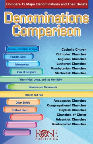 Denominations Comparison Compare 12 Major Denominations and Their Beliefs N/A edition cover