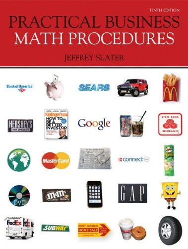 Practical Business Math Procedures  10th 2011 (Student Manual, Study Guide, etc.) edition cover