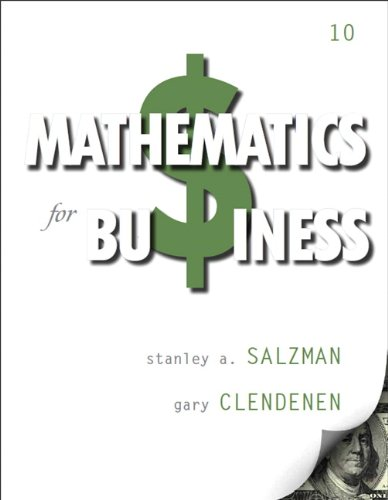 Mathematics for Business  10th 2014 edition cover