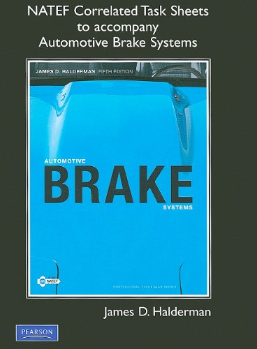 NATEF Correlated Task Sheets for Automotive Brake Systems  5th 2010 9780135079355 Front Cover