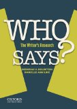 Who Says? The Writer's Research  2014 edition cover