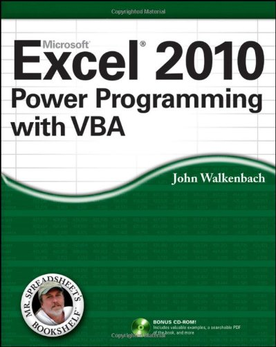 Excel 2010 Power Programming with VBA   2010 edition cover
