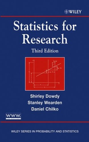 Statistics for Research  3rd 2004 (Revised) edition cover