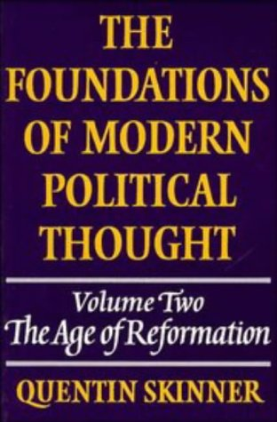 Foundations of Modern Political Thought The Age of Reformation  1978 edition cover