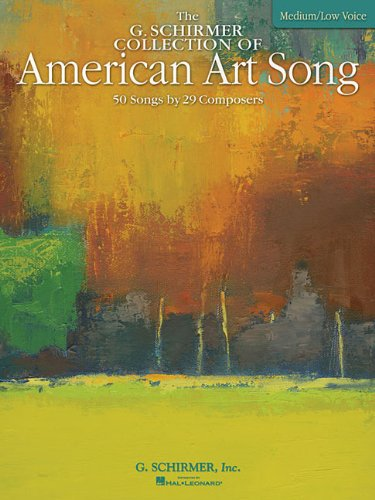 American Art Song - 50 Songs by 28 Composers Low Voice N/A edition cover