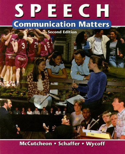 Speech: Communication Matters  2nd 2001 9780658013355 Front Cover