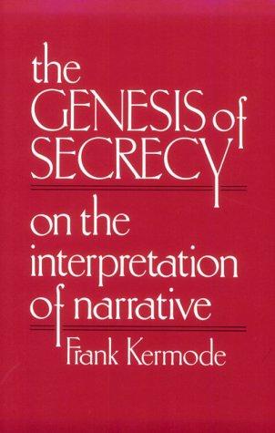 Genesis of Secrecy On the Interpretation of Narrative  1979 edition cover