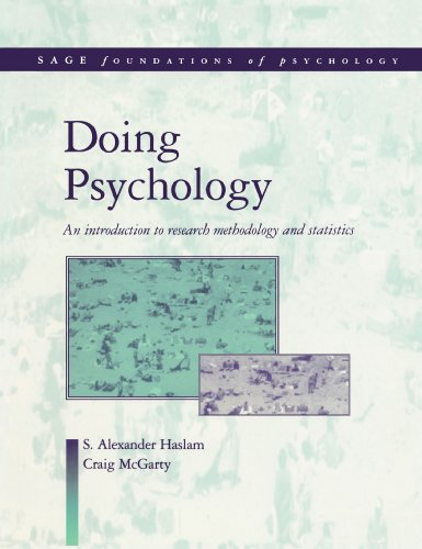 Doing Psychology An Introduction to Research Methodology and Statistics  1998 9780761957355 Front Cover