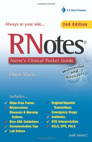 Rnotes Nurse's Clinical Pocket Guide 2nd 2006 (Revised) edition cover