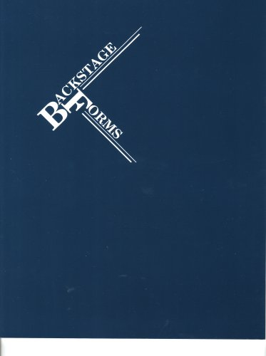 Backstage Forms 1st edition cover