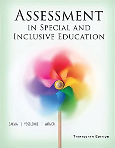 Assessment: In Special and Inclusive Education  2016 9781305642355 Front Cover