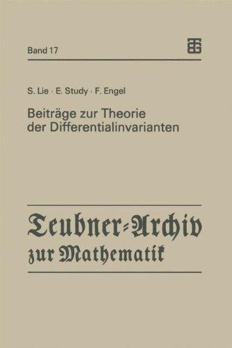 Beiträge Zur Theorie Der Differentialinvarianten:   1993 9783815420355 Front Cover