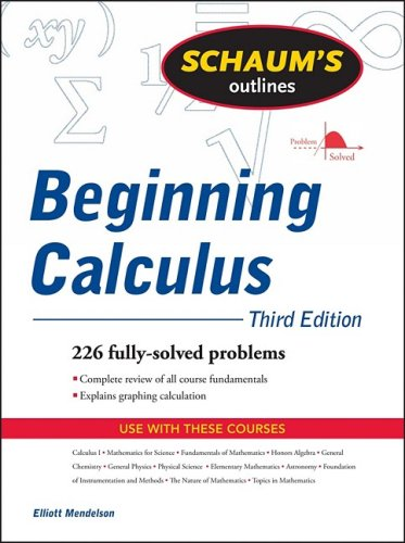 Beginning Calculus 226 Fully Solved Problems 3rd 2010 edition cover