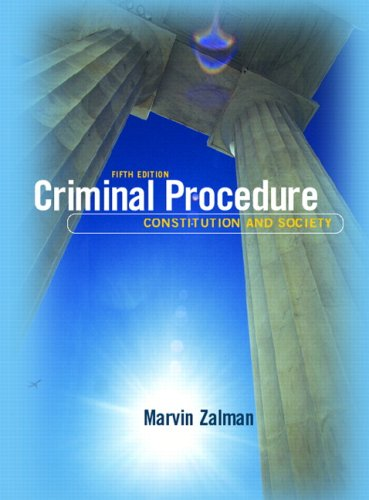 Criminal Procedure Constitution and Society 5th 2008 edition cover
