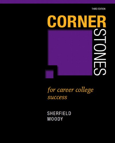 Cornerstones for Career College Success  3rd 2013 (Revised) 9780132789356 Front Cover