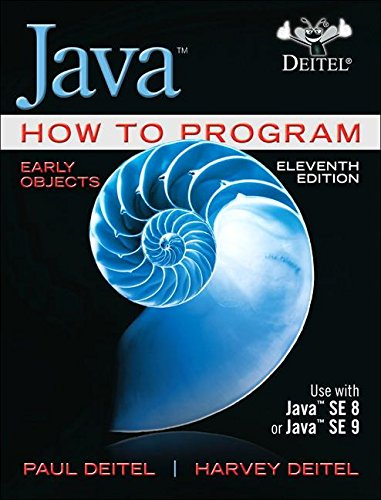 Java How to Program, Early Objects  11th 2018 9780134743356 Front Cover