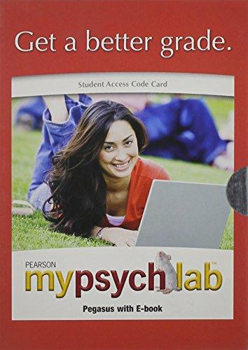 Mypsychlab Pegasus  8th 2009 edition cover