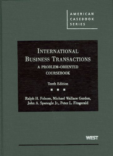 International Business Transactions A Problem-Oriented Coursebook 10th (Revised) edition cover