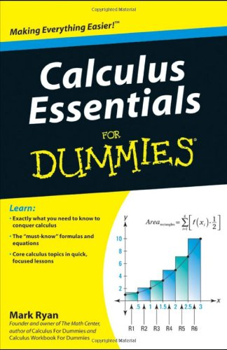 Calculus Essentials for Dummies   2010 edition cover