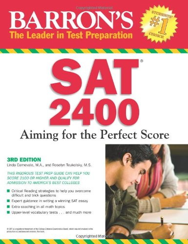 Barron's SAT 2400 Aiming for the Perfect Score 3rd 2010 (Revised) edition cover