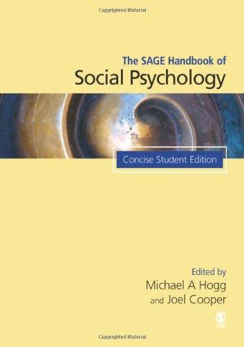 SAGE Handbook of Social Psychology   2007 (Handbook (Instructor's)) edition cover