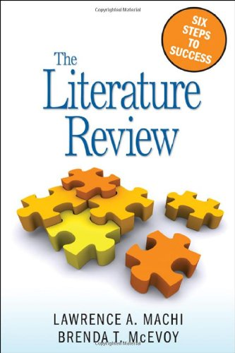 Literature Review Six Steps to Success  2009 edition cover