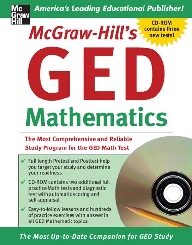 GED Mathematics The Most Comprehensive and Reliable Study Program for the GED Math Test  2006 9780071469357 Front Cover