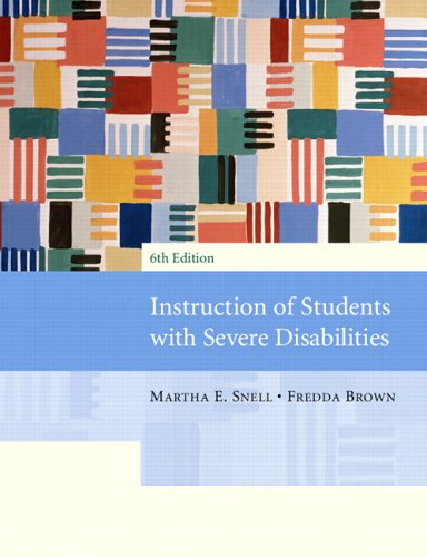 Instruction of Students with Severe Disabilities  6th 2006 (Revised) edition cover