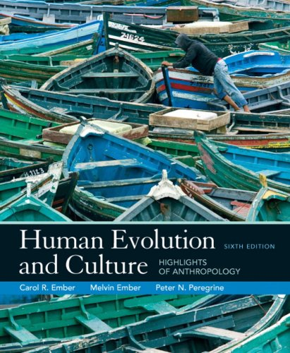 Human Evolution and Culture Highlights of Anthropology 6th 2009 edition cover