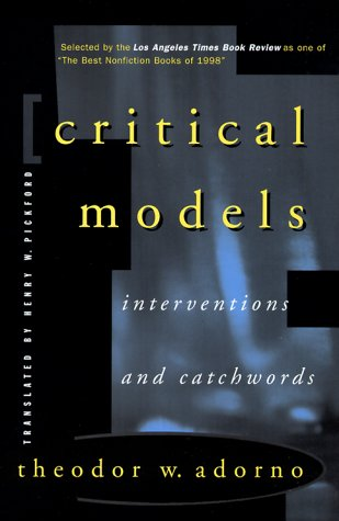 Critical Models Interventions and Catchwords  1999 edition cover