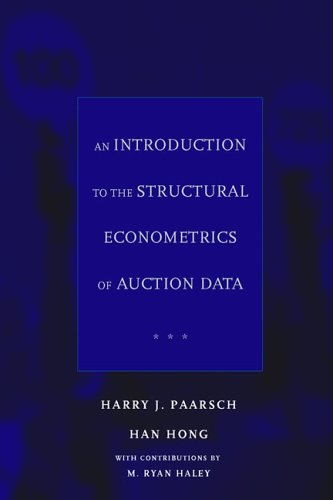 Introduction to the Structural Econometrics of Auction Data   2006 edition cover