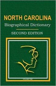 North Carolina Biographical Dictionary  1999 edition cover