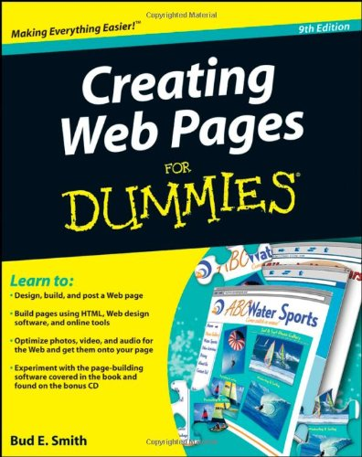 Creating Web Pages for Dummies�  9th 2008 edition cover