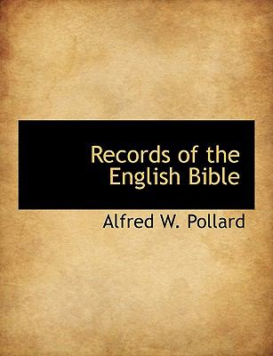 Records of the English Bible  N/A 9781116558357 Front Cover