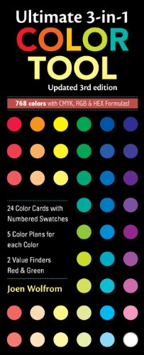 Ultimate 3-in-1 Color Tool 24 Color Cards with Numbered Swatches -- 5 Color Plans for each Color -- 2 Value Finders Red and Green 3rd edition cover
