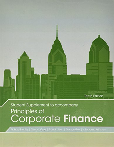 PRIN.OF CORPORATE FINANCE-STUD N/A edition cover