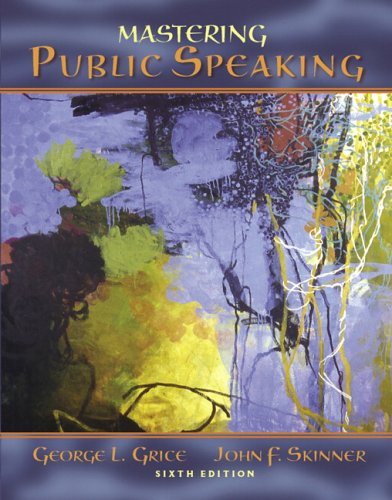 Mastering Public Speaking  6th 2007 (Revised) edition cover